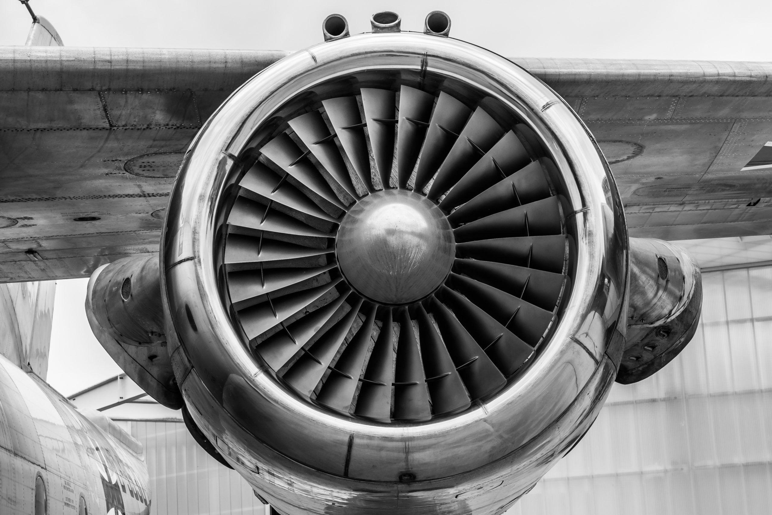 Commerical Airplane Engine - Aerospace Industry Image